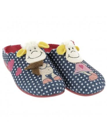 S4141 - Soft velor slipper...